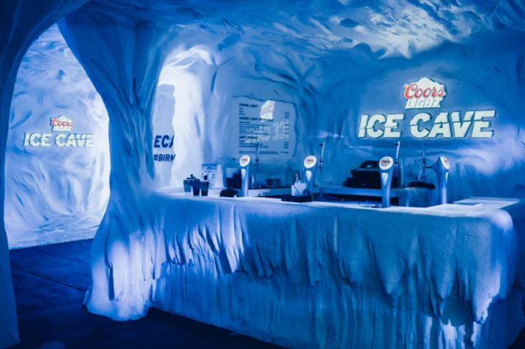 Coors Ice Cave Okoru Events