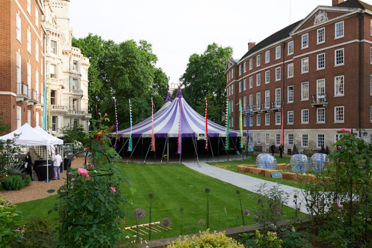 kings college london summer event marquee hire