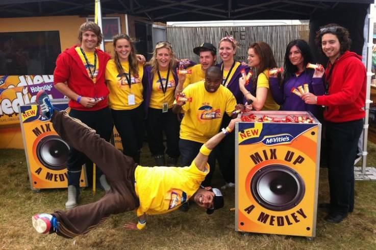 mcvities medley experiential activation festival brand