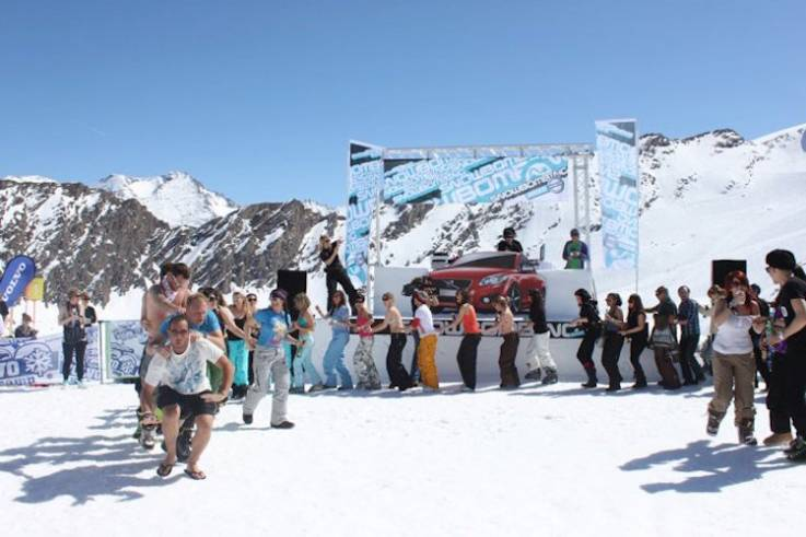 snowbombing volvo ice camp okoru tour