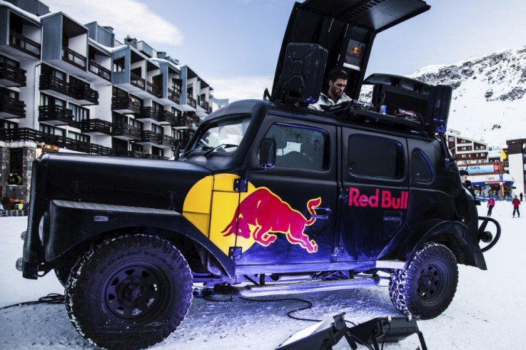 okoru winter experiential redbull activation brand snow bristol